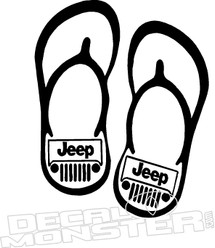 Jeep Flip Flops Decal Sticker