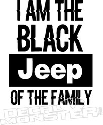 I Am Black Jeep Decal Sticker