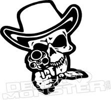 Cowboy Skull Gun Decal Sticker