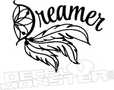 Dreamer Dreamcatcher Lettering Decal Sticker