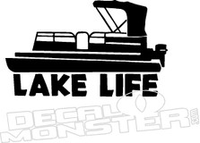 Party Barge Pontoon Boat Lake Life Decal Sticker
