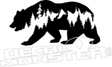 Bear Mountain Scene Decal Sticker