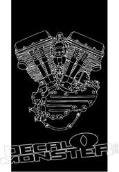 Harley Davidson Motor Motorcycle Decal Sticker