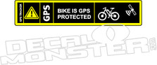 Mountain Bike is GPS Protected Decal Sticker
