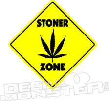 Stoner Zone Weed Decal Sticker
