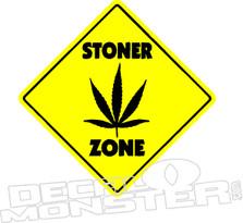 Stoner Zone Weed Decal Sticker