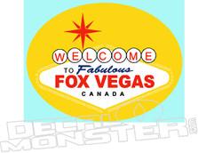 FOX VEGAS CANADA Decal Sticker