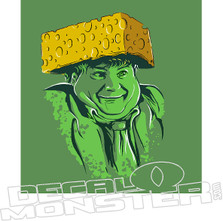 Cheese Head Chris Farley Decal Sticker