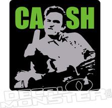Johnny CASH 2 Finger Color Decal Sticker