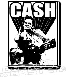 Johnny CASH 3 Finger Decal Sticker