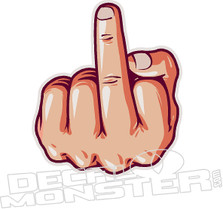 Middle Finger Decal Sticker