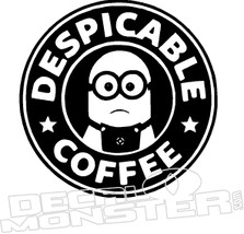 Despicable Coffee Minion Decal Sticker