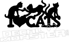 I heart Cats Decal Sticker