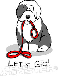 Lets Go Dog Walk Decal Sticker