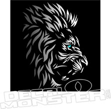 Tribal Lion Decal Sticker