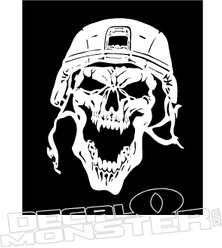 Crazy Army Skull Decal Sticker