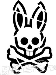 Pycho Bunny 2 Distressed Decal Sticker