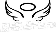 Angel Wings Halo Decal Sticker