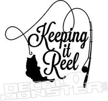 Keeping It Reel Fishing Decal Sticker