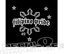 Filipino Pride 2 Decal Sticker
