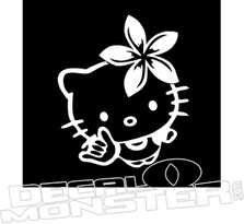 Hawaiian Hello Kitty Decal Sticker