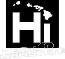Hi Hawaii Decal Sticker