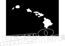 Hawaiian Islands Decal Sticker