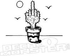 Cactus Finger Arizona Decal Sticker