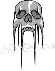 Dripping Skull Decal Sticker