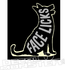 Face Licks Dog Decal Sticker