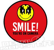 Smile You're on Camera Kiss Decal Sticker