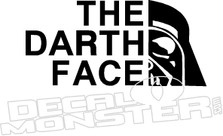The Darth Face Star Wars Decal Sticker