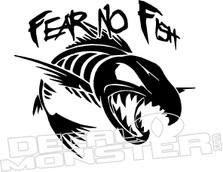 Fear No Fish Decal Sticker