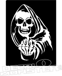 Reaper Skull Finger Decal Sticker