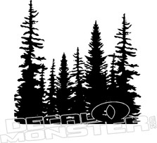 Forest Sihouette Nature Decal Sticker