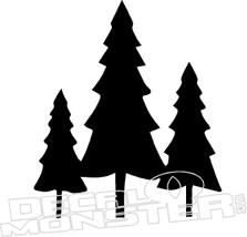Three Trees Nature Decal Sticker