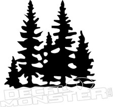 Tree sihouette 2 Nature Decal Stitcker