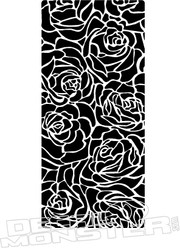 Rose Pattern Decal Sticker