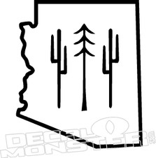 Arizona State Outline Decal Sticker