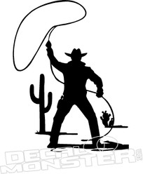 Cowboy Cactus Arizona 2 Decal Sticker