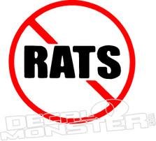 No Rats Decal Sticker