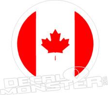 Canada Flag Circle Decal Sticker