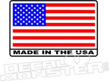 Made in The USA Flag Decal Sticker