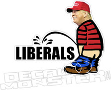 Trump Pee on Liberals Decal Sticker