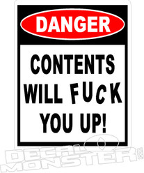 Content Will F You Up Funny Decal Sticker