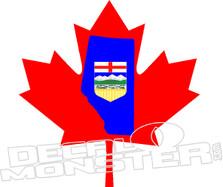 Alberta Maple Leaf Canada Decal Sticker