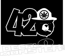420 Smokey the Bear Weed Decal Sticker