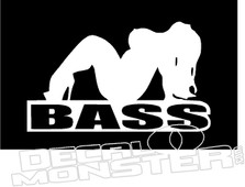 Bass Girl Chick Decal Sticker