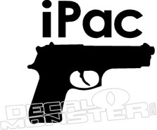 iPac Gun Decal Sticker