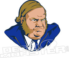Chris Farley 7 Decal Sticker